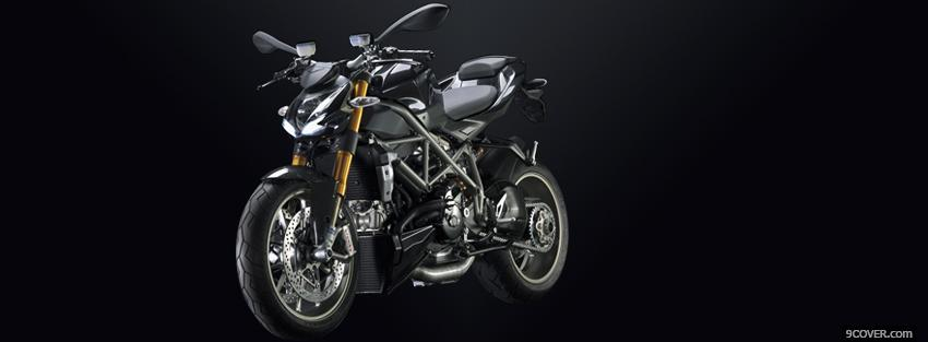 Photo street fighter ducati moto Facebook Cover for Free