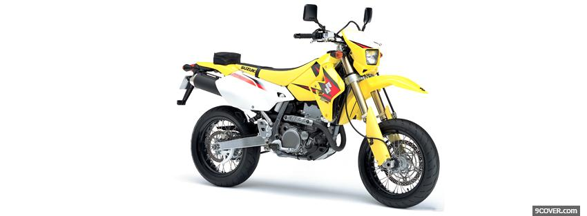 Photo dr z400sm yellow moto Facebook Cover for Free
