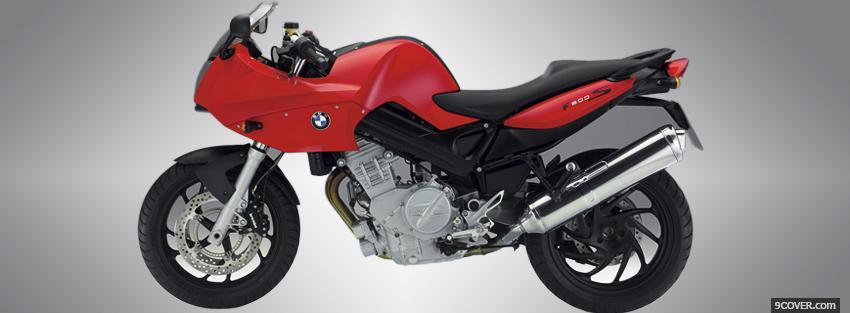 Photo red bmw f800s moto Facebook Cover for Free