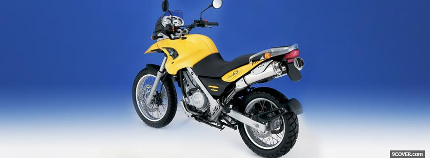 Photo yellow bmw f650gs moto Facebook Cover for Free