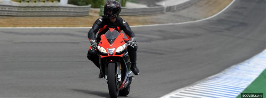 Photo aprilia rsv4 factory moto Facebook Cover for Free