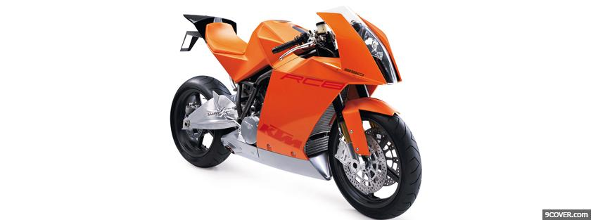 Photo ktm rc8 990 moto Facebook Cover for Free