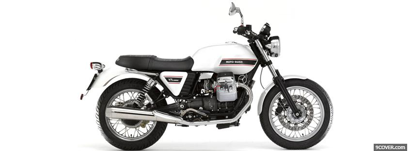 Photo moto guzzi classic Facebook Cover for Free