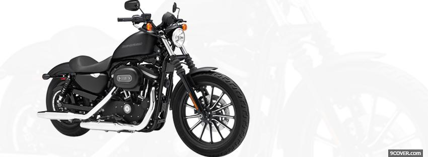 Photo harley davidson iron moto Facebook Cover for Free