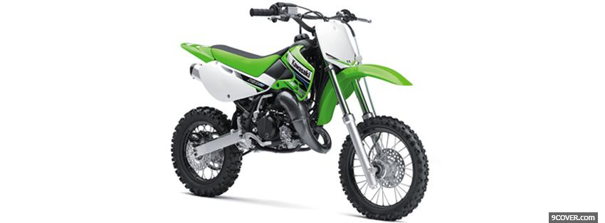 Photo kawasaki 2012 green moto Facebook Cover for Free