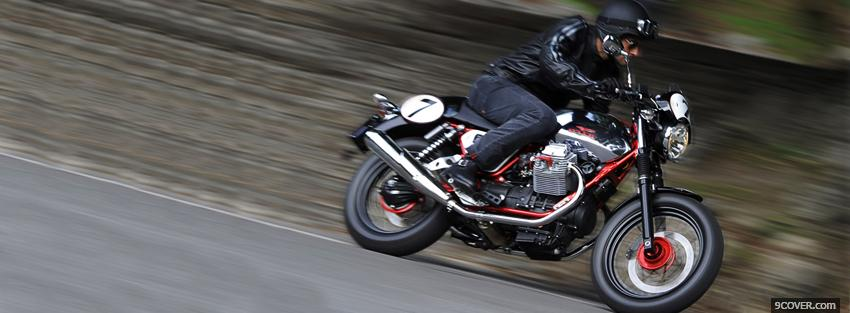 Photo moto guzzi racer Facebook Cover for Free