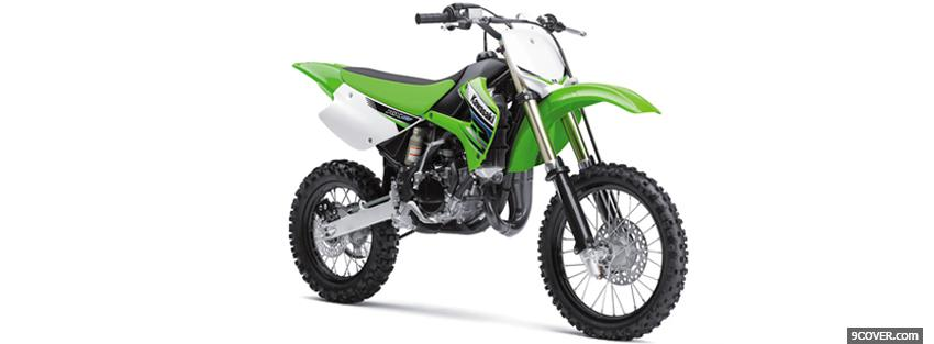 Photo kawasaki kx 2012 green Facebook Cover for Free