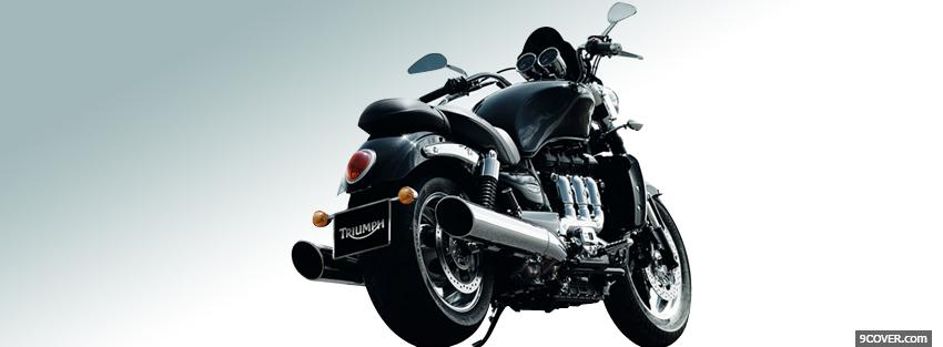 Photo triumph rocket 3 roadster Facebook Cover for Free
