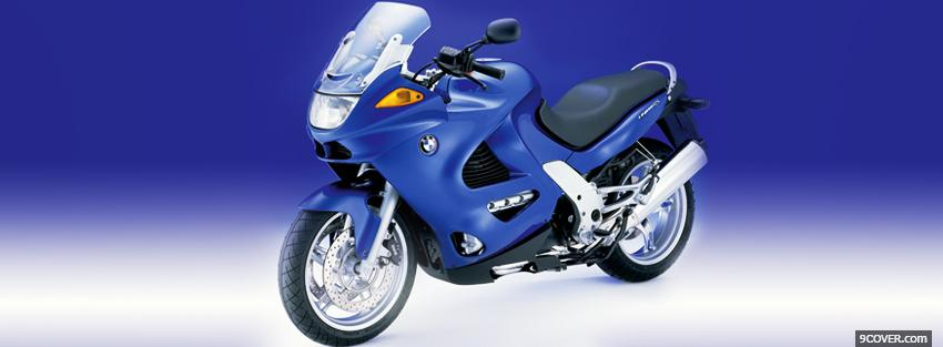 Photo blue bmw moto Facebook Cover for Free