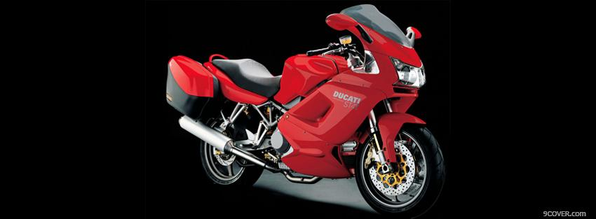 Photo ducati st4s 2004 moto Facebook Cover for Free