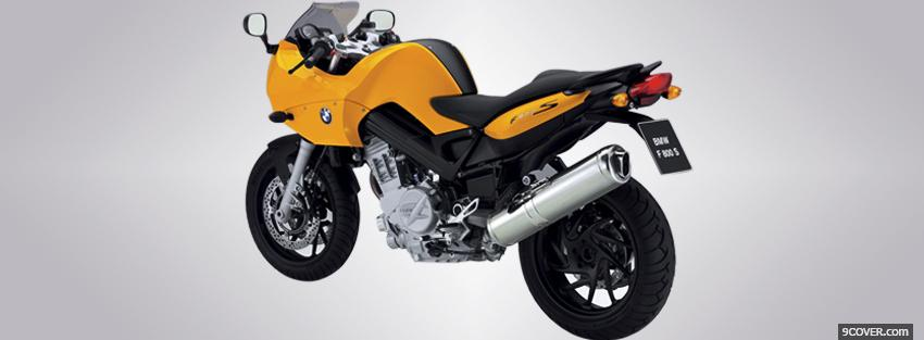Photo yellow bmw f800s moto Facebook Cover for Free