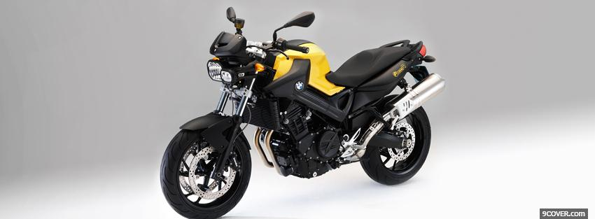 Photo yellow bmw f800r 2011 Facebook Cover for Free