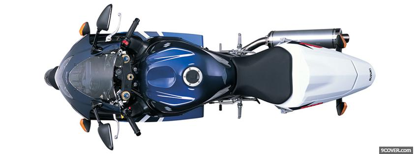 Photo 2004 blue suzuki moto Facebook Cover for Free