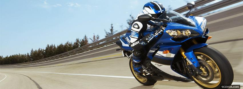 Photo driving yamaha r1 Facebook Cover for Free