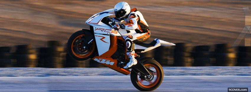 Photo ktm rc8r moto Facebook Cover for Free