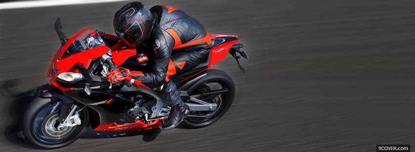 Photo red aprilia rs4 moto Facebook Cover for Free