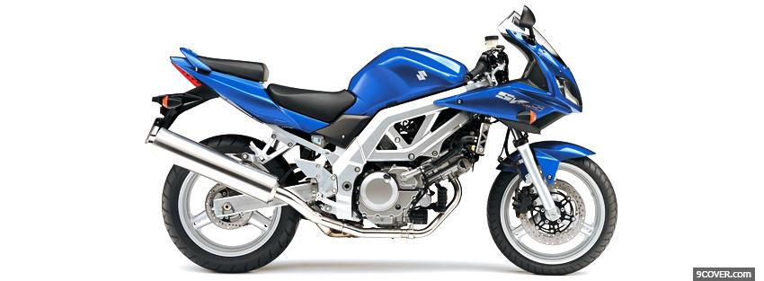Photo suzuki sv650s blue moto Facebook Cover for Free