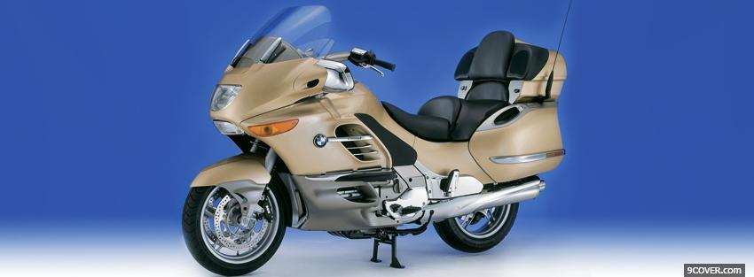Photo bmw brown k 1200 moto Facebook Cover for Free