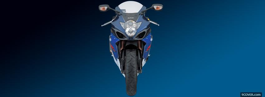 Photo blue front suzuki Facebook Cover for Free
