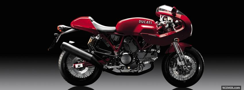 Photo ducati sport 1000s moto Facebook Cover for Free
