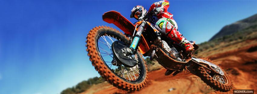 Photo ktm racing moto Facebook Cover for Free