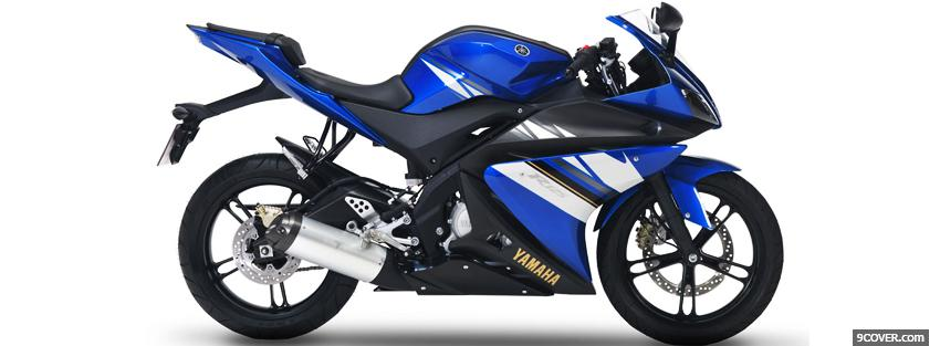 Photo yamaha r15 blue moto Facebook Cover for Free