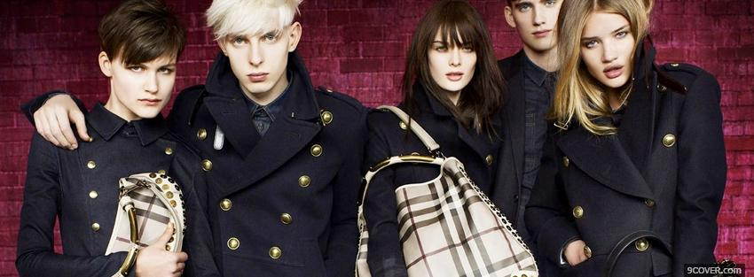 Photo fashion burberry winter 2010 Facebook Cover for Free
