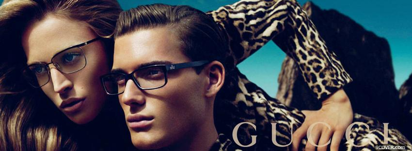 Photo gucci glasses campaign woman with man Facebook Cover for Free