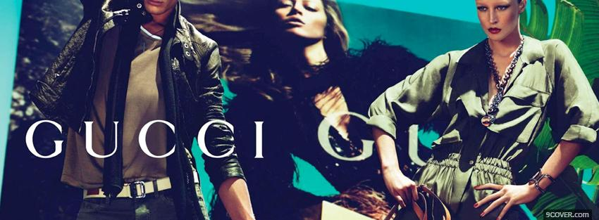 Photo gucci sexy campaign add Facebook Cover for Free