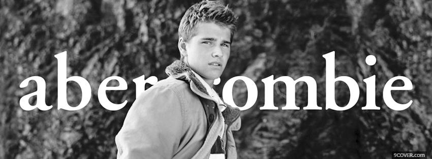 Photo black and white abercrombie Facebook Cover for Free