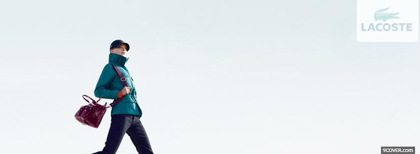 Photo fashion woman with lacoste Facebook Cover for Free