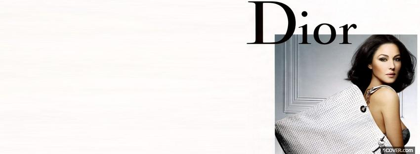 Photo christian dior with beautiful woman Facebook Cover for Free
