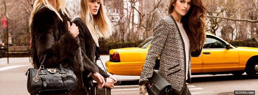Photo women wearing dkny fall collection Facebook Cover for Free