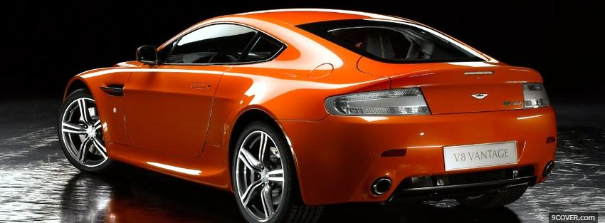 aston martin vantage orange profile facebook covers car 2013 03 07 697