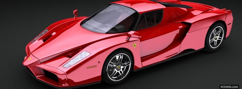 Photo enzo ferrari car Facebook Cover for Free