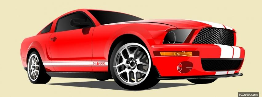 Photo ford cobra gt 500 Facebook Cover for Free
