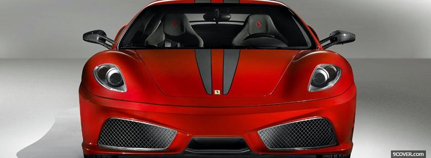 Photo red ferrari scuderia car Facebook Cover for Free