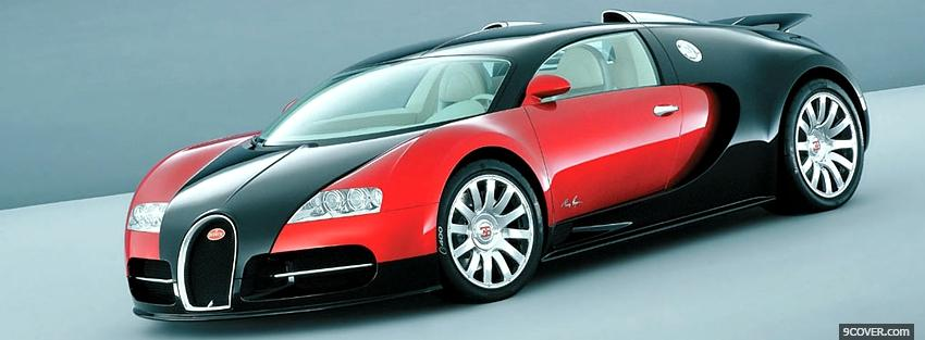 Black and red bugatti