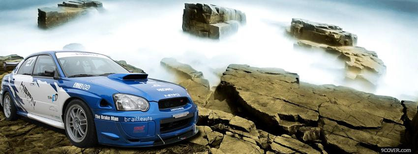 Photo race car outside Facebook Cover for Free
