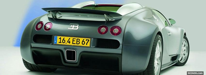 Photo back bugatti veyron Facebook Cover for Free