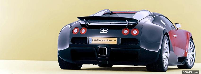 Photo black bugatti veyron Facebook Cover for Free
