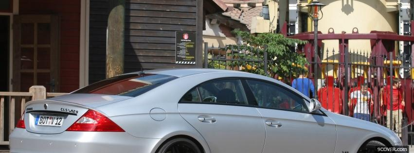 Photo outside cls brabus car Facebook Cover for Free