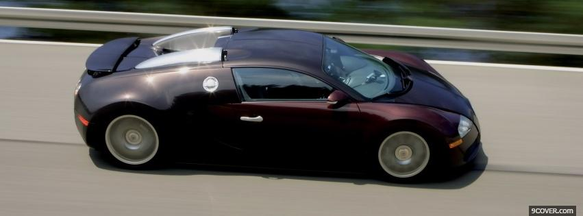 Photo side of bugatti veyron car Facebook Cover for Free