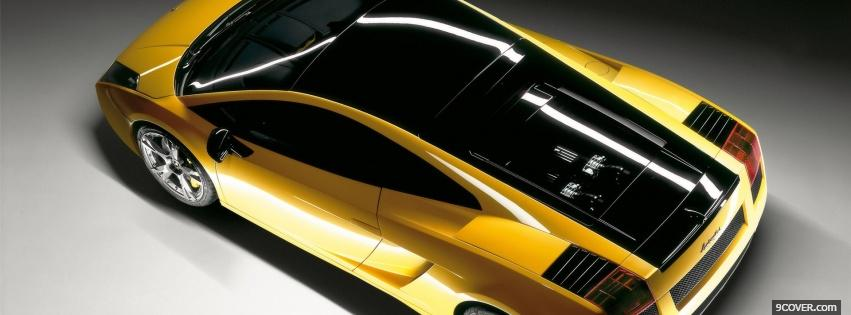 Photo yellow lamborghini gallardo se car Facebook Cover for Free