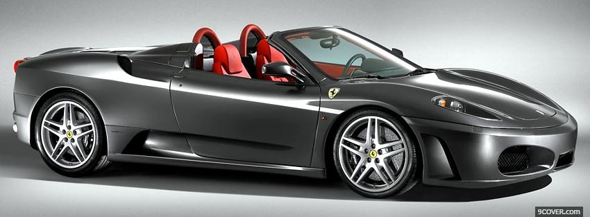 Photo ferrari 430 silver spider car Facebook Cover for Free