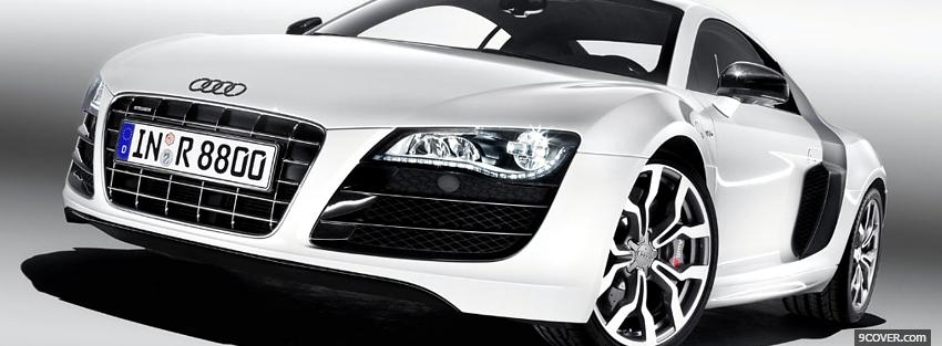White Audi Car Photo Facebook Cover
