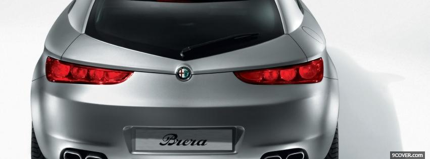 Photo back silver alfa romeo car Facebook Cover for Free