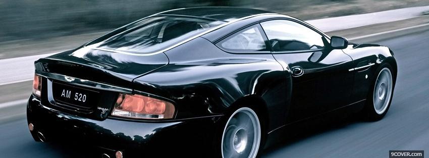 Black Aston Martin Car Photo Facebook Cover