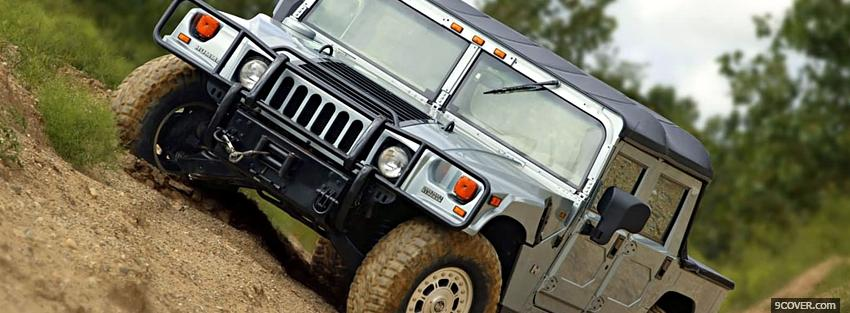 Photo hummer h1 car Facebook Cover for Free