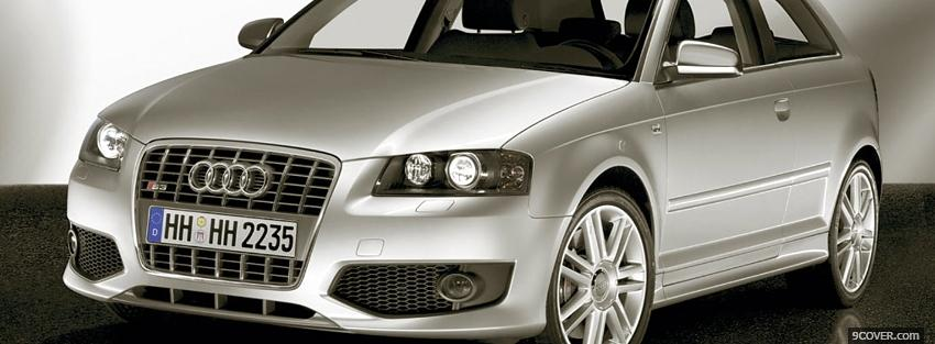 Photo silver audi s3 car Facebook Cover for Free